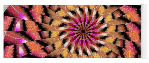 Rippled Source Kaleidoscope Yoga Mat