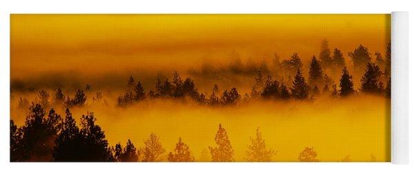 River Fog Rising Yoga Mat