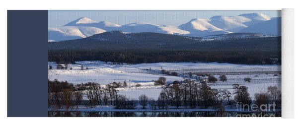 River Spey And Cairngorm Mountains Yoga Mat