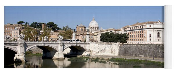 River Tiber With The Vatican. Rome Yoga Mat