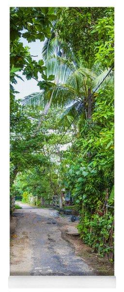 road in the Sri Lanka jungle Yoga Mat