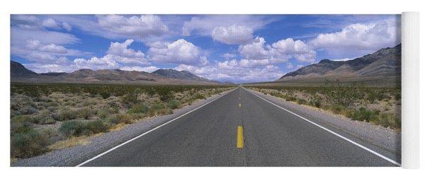Road Passing Through A Desert, Death Yoga Mat
