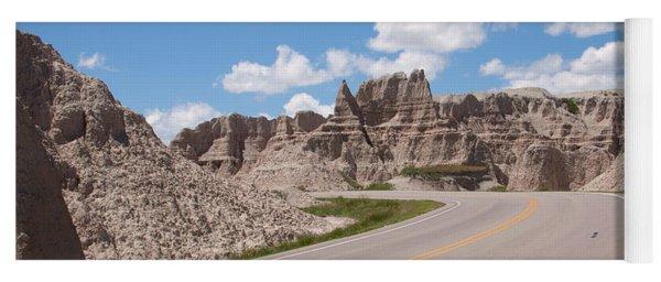 Road Through The Badlands Yoga Mat