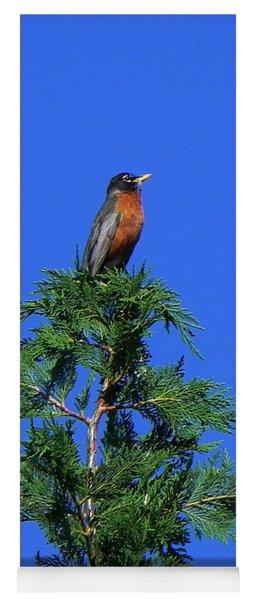 Robin Christmas Tree Topper Yoga Mat