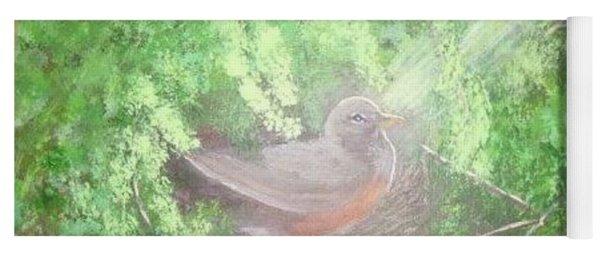 Robin On Her Nest Yoga Mat