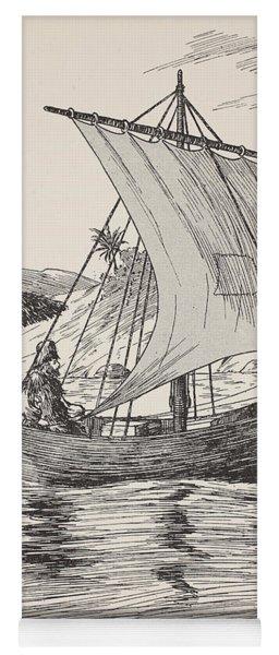 Robinson Crusoe On His Boat Yoga Mat