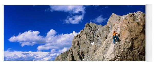 Rock Climber Grand Teton National Park Yoga Mat