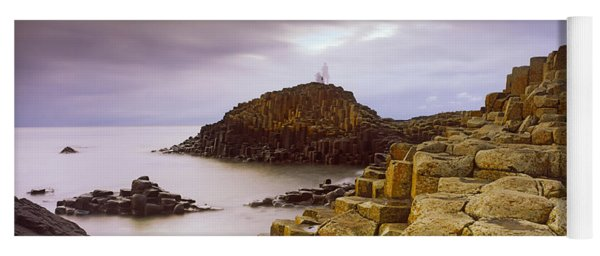 Rock Formations At The Coast, Giants Yoga Mat