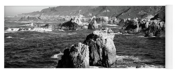 Rock Formations On The Beach, Big Sur Yoga Mat