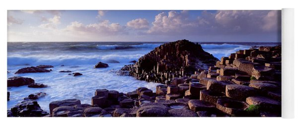 Rock Formations On The Coast, Giants Yoga Mat