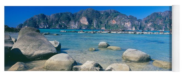 Rocks On The Coast, Phi Phi Islands Yoga Mat