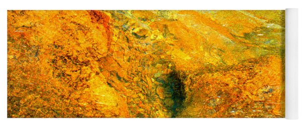 Rocks Under The Stream By Christopher Shellhammer Yoga Mat