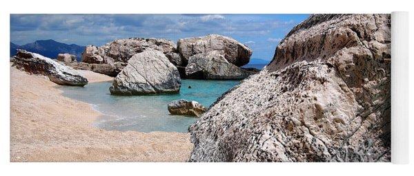 Rocky Beach In Sardinia Yoga Mat