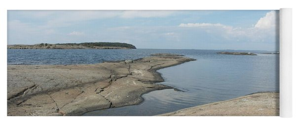 Rocky Coastline In Hamina Yoga Mat