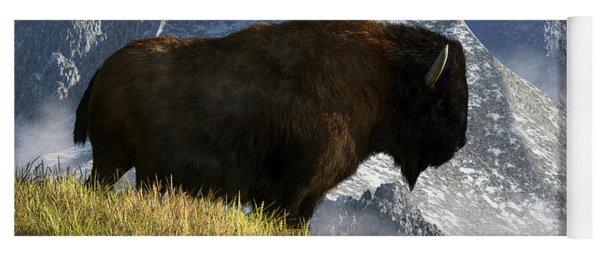 Rocky Mountain Buffalo Yoga Mat