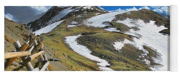 Rocky Mountains Path Yoga Mat
