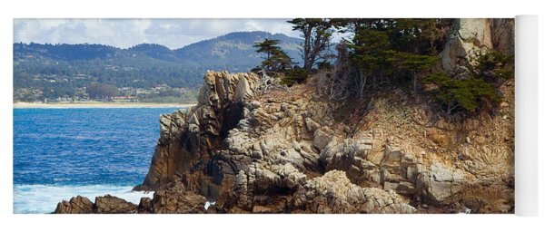 Rocky Outcropping At Point Lobos Yoga Mat
