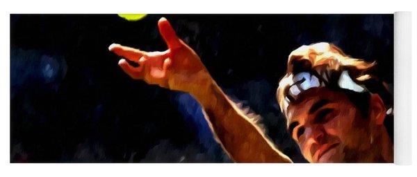 Roger Federer Tennis 1 Yoga Mat