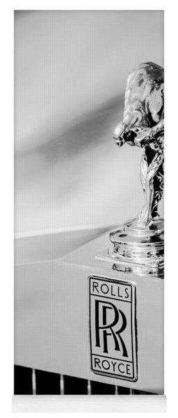 Rolls-royce Hood Ornament -782bw Yoga Mat