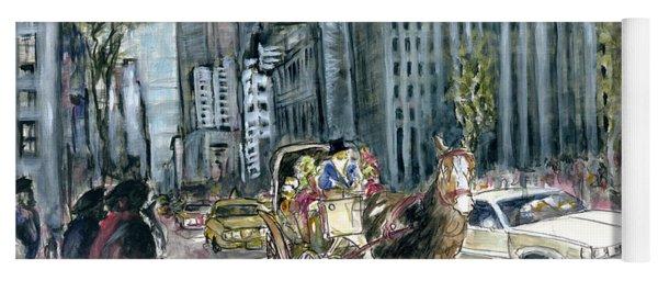 New York 5th Avenue Ride - Fine Art Painting Yoga Mat