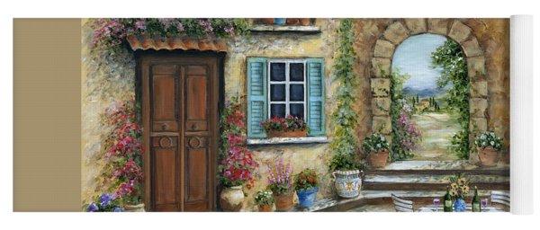 Romantic Tuscan Courtyard Yoga Mat