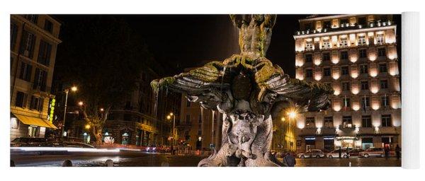 Rome's Fabulous Fountains - Bernini's Fontana Del Tritone Yoga Mat
