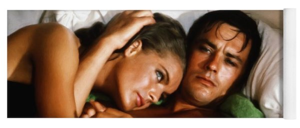Romy Schneider And Alain Delon Yoga Mat