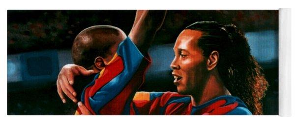 Ronaldinho And Eto'o Yoga Mat