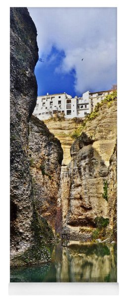 Ronda - Andaluzia - Spain - Canyon Behind The House Of The Moorish King Yoga Mat