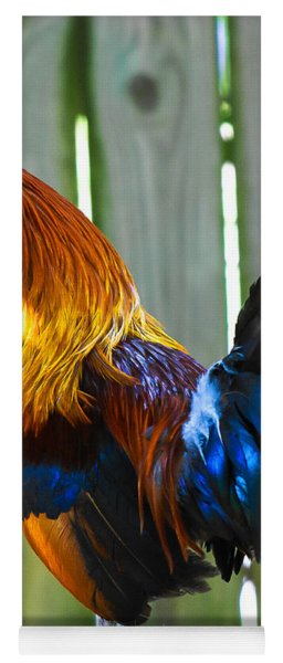 Yoga Mat featuring the photograph Rooster by Robert L Jackson
