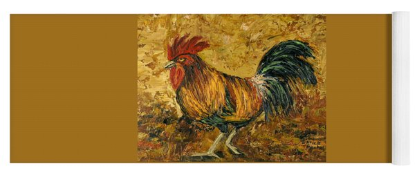 Rooster With Attitude Yoga Mat