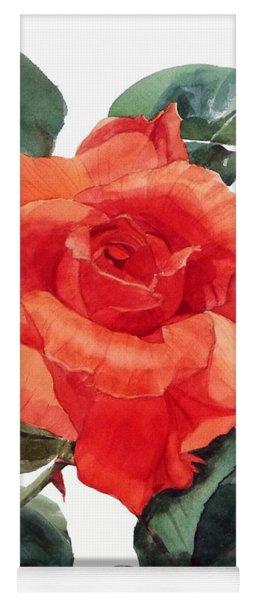 Watercolor Of A Single Red Rose I Call Red Rose Filip Yoga Mat