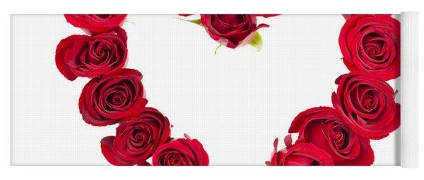 Rose Heart Yoga Mat