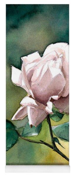 Watercolor Of A Lilac Rose  Yoga Mat