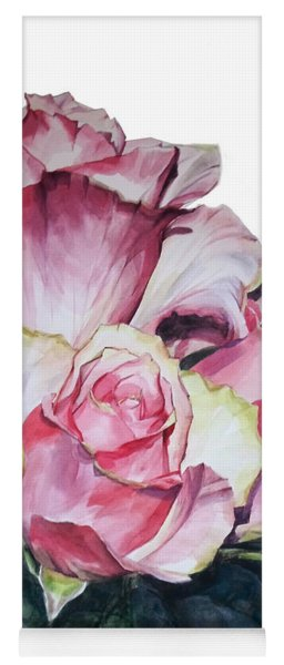Watercolor Of A Bouquet Of Pink Roses I Call Rose Michelangelo Yoga Mat