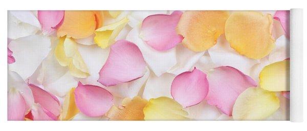 Rose Petals Background Yoga Mat