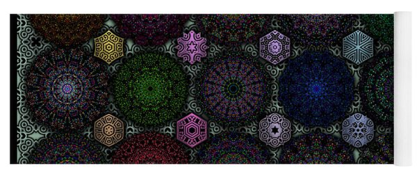 Rose Window Kaleidoscope Quilt Yoga Mat