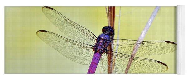 Roseate Skimmer Dragonfly Yoga Mat