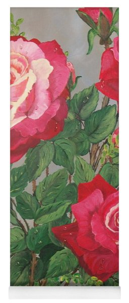 Roses N' Rain Yoga Mat