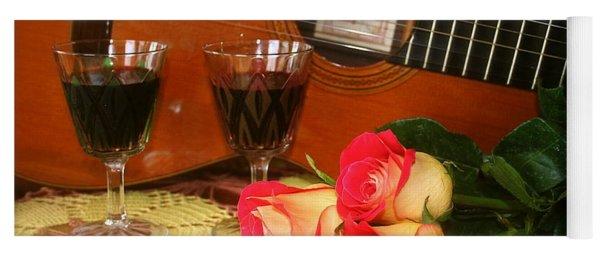 Guitar 'n Roses Yoga Mat