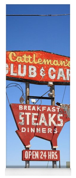 Route 66 - Cattleman's Club And Cafe Yoga Mat