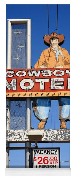 Route 66 - Cowboy Motel Yoga Mat
