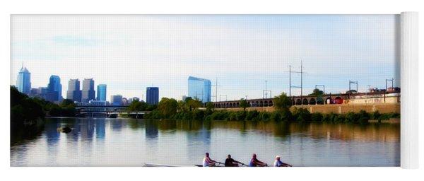 Rowing In Philadelphia Yoga Mat