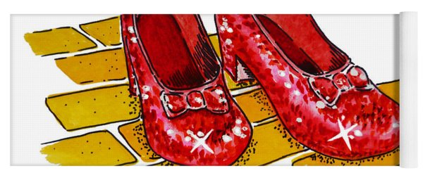 Ruby Slippers The Wizard Of Oz  Yoga Mat