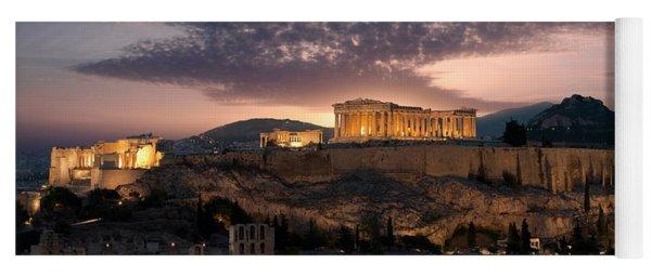 Ruins Of A Temple, Athens, Attica Yoga Mat
