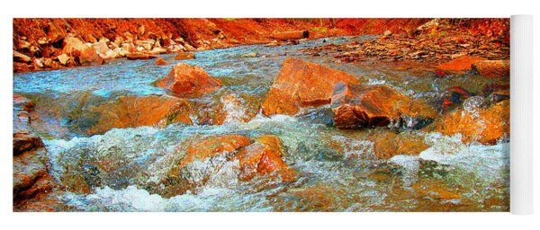 Running Creek 2 By Christopher Shellhammer Yoga Mat