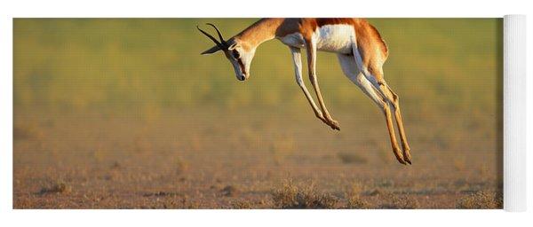 Running Springbok Jumping High Yoga Mat