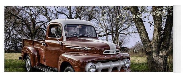 Rural 1952 Ford Pickup Yoga Mat