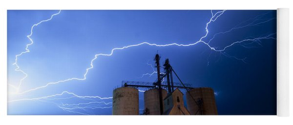 Rural Lightning Storm Yoga Mat