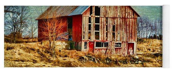 Rural Rustic Vermont Scene Yoga Mat